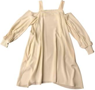 Tibi Ecru Silk Dresses