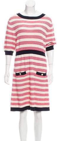 Chanel Stripe Knit Dress