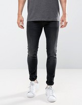 Only & Sons Jeans In Skinny Fit Washed Black