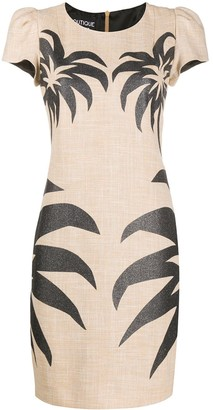 Boutique Moschino Palm-Print Midi Dress