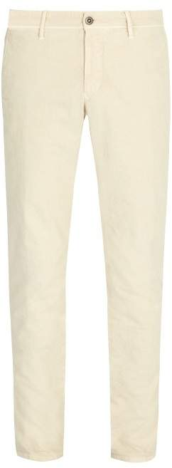 Incotex Slim Fit Chino Trousers - Mens - Cream