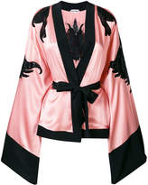 Giacobino sheer panels kimono jacket