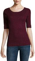 Liz Claiborne Elbow-Sleeve Sweater