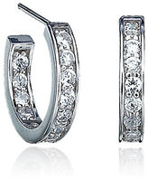 Crislu 0.52 cttw Brilliant Cubic Zirconia Hoop Earrings