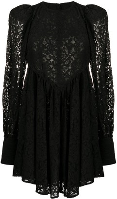 Rotate by Birger Christensen Floral Lace Midi Dress