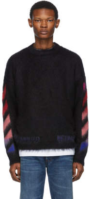 Off-White Black Mohair Diag Sweater