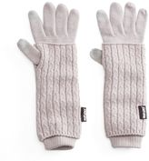 Muk Luks Women's 3-in-1 Cable-Knit Tech Gloves