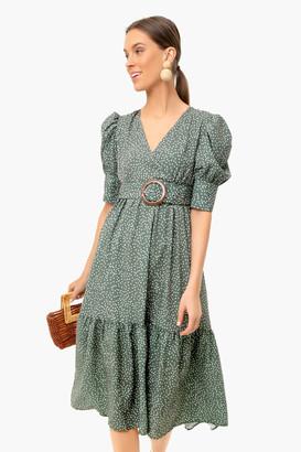 OPT Green Papin Dress