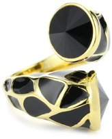 Joanna Laura Constantine Black Adjustable Animal Print Ring
