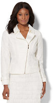 New York & Co. Lace-Overlay Moto Jacket