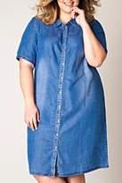 Yest Button Denim Dress