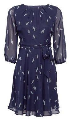 Dorothy Perkins Womens Billie & Blossom Petite Navy Feather Mini Dress