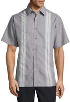 Haggar Short Sleeve Plaid Button-Front Shirt-Big and Tall