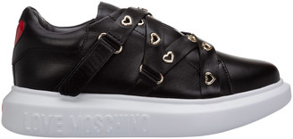 Love Moschino Heart Eyelets Slip-On Sneakers