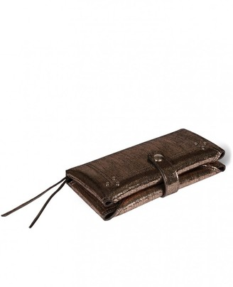 Jerome Dreyfuss Porte Mobile Wallet in Lame Champagne Goatskin