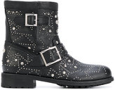 Jimmy Choo Youth biker boots - women - Leather/rubber - 40.5