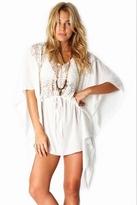 Nightcap Clothing Sunflower Caftan in White