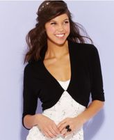 B. Darlin Juniors Three-Quarter-Sleeve Shrug