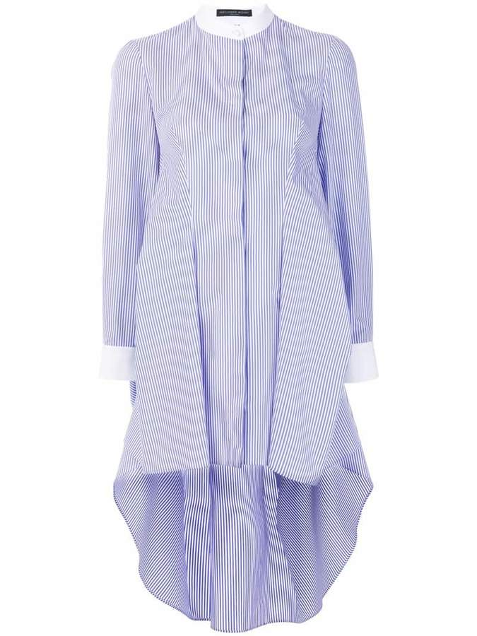 Alexander McQueen striped grandad shirt dress