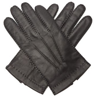 Dents Shaftesbury Touchscreen Leather Gloves - Mens - Black