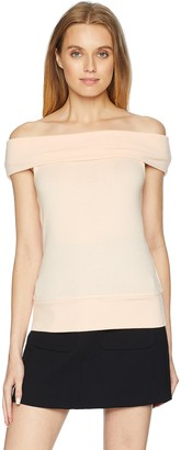 Cupcakes And Cashmere Women's Cathie Ultra Soft Off The Shoulder Sweater