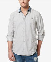 Buffalo David Bitton Men's Cotton Chambray Collar Shirt