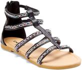 Black Beaded Gladiator Sandal