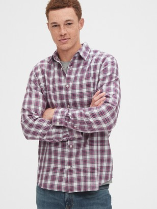 Gap Button-Front Shirt in Linen-Cotton