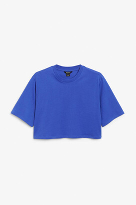 Monki Cropped retro tee