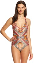 Jessica Simpson Swimwear Day Tripper Lace Back One Piece Swimsuit 8152638