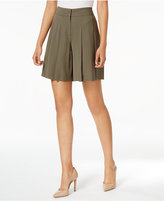 Nine West Pleated Crepe Shorts