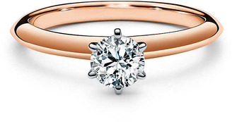 Tiffany & Co. The Setting in 18k rose gold: world's most iconic engagement ring