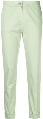 Etro High-Rise Cropped Slim-Fit Trousers