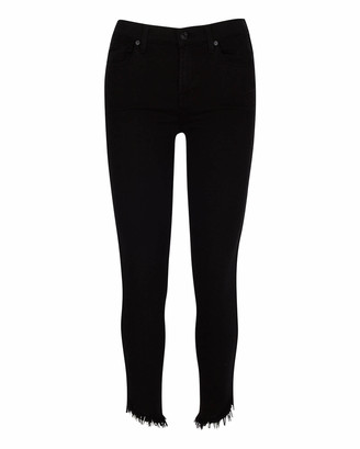 7 For All Mankind b(air) Gwenevere High Waist Ankle Skinny in Night Black