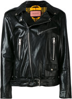 Gucci GucciGhost biker jacket - women - Calf Leather/Polyester/Viscose/Wool - 40