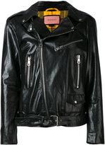 Gucci GucciGhost biker jacket - women - Calf Leather/Polyester/Wool/Viscose - 40