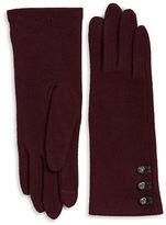 Lauren Ralph Lauren Button Cashmere and Wool-Blend Touch Gloves