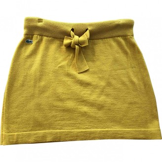 Lacoste \N Yellow Wool Skirt for Women