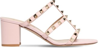 Valentino 60mm Rockstud Leather Sandals