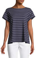 Lafayette 148 New York Ella Mulberry Striped Top