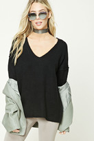 Forever 21 FOREVER 21+ Slub Knit V-Neck Sweater