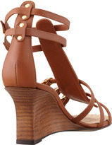 Manolo Blahnik Axez Wedge Gladiator Sandal, Luggage
