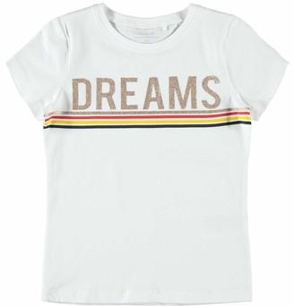Name It Girl's Nkffranseska Ss Top Box Noos T-Shirt