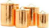 Old Dutch International 4-pc. Dcor Hammered Copper Canister Set