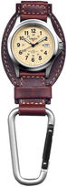 Dakota Men's Brown Leather Hanger Field Clip Watch 35508