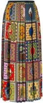 Gucci scarf patchwork pleated skirt - women - Silk - 40