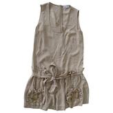 Valentino Beige Cotton Jumpsuits