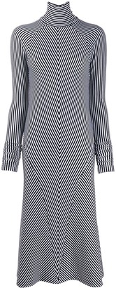 Haider Ackermann Striped Midi Dress
