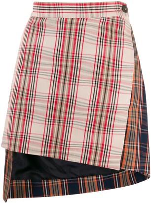 Vivienne Westwood Asymmetric Plaid Skirt