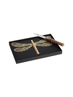 Dragonfly Lame Ailee Foldable Knife, Oak